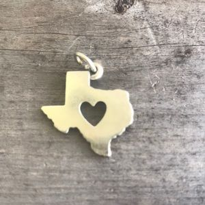 James Avery Sterling 925 Open Heart Texas Charm